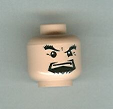 LEGO 4768 - Minifig Head, Male Black Goatee & Thick Eyebrows - Light Flesh