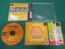 PlayStation -- LATTICE -- Spine card. PS1. JAPAN. GAME. Works. 28590