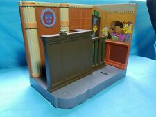 Court Room Environment THE SIMPSONS WOS Playmates Interactive Playset
