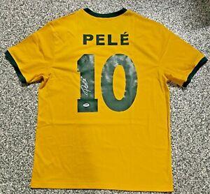 Brazil Pele Authentic Signed Soccer Jersey Autographed PSA DNA COA