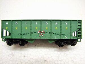 HO Holiday Express Christmas Candy Cane 2 Bay Hopper Car