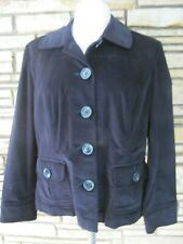 Talbots Black Velvet LS Lightweight Jacket Coat sz 16