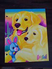 Vintage LISA FRANK 2 Pocket Folder Golden Retriever Puppy Dog
