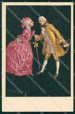 Artist Signed Properzi Romantic Couple 1015 cartolina XP7846