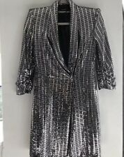 ZARA SILVER Blazer Robe Taille M sold out bloggers favorite