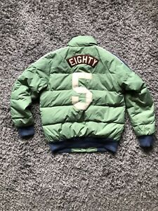 "Scotch&Soda Men's Down Bomber Jacket ""Eighty Five"" Green S"