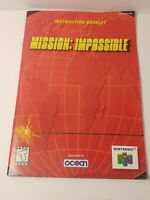 Mission Impossible Nintendo 64 N64 Instruction Manual Booklet ONLY - NO GAME