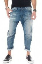 DIESEL Narrot CARROT JEANS 0840V DISTRESSED MADE ITALY 34X32  $348 BLUE EYECONS