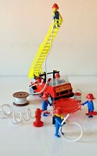 Playmobil Vintage Fire Truck/Engine with Firemen and Accessories