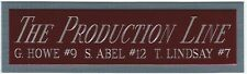 THE PRODUCTION LINE RED WINGS NAMEPLATE FOR AUTOGRAPHED Signed HOCKEY JERSEY