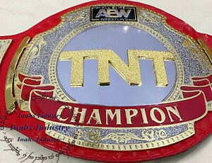 New AEW TNT Championship Wrestling Replica Leather Belt Original Leather Strap