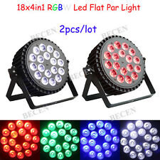 2pcs/lot Power linkable 18x10W RGBW 4in1 aluminum led flat par lights for sale