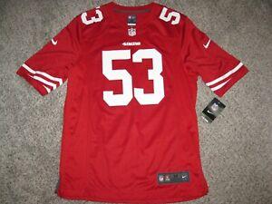 NaVorro Bowman San Francisco 49ers Red Mens Medium Nike Game Jersey