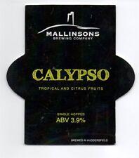 Beer pump clip front. Mallinsons Brewing Co, CALYPSO, Tropical & citrus fruits