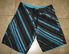 Blue Sol Young Mens/Mens Shorts Size 32 BLACK MULTI Flat Front