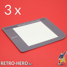 3 x Game Boy Classic Display Scheibe Grau LCD Sicht Front Linse Screen NEU