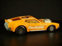 "Rare Double Stamped Error 1972 Matchbox Superfast Boss Mustang ""the BOSS"" Orange"