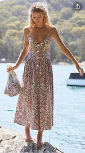 Auguste the label 'Paisley Staple Midi Dress Blush' Size 14 BNWT