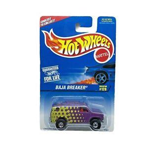 Hot Wheels Baja Breaker Ford Econoline Van 4x4 Purple Die Cast 1/64 Opening Hood