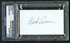 Bob Arum signed autograph auto 2x3.5 cut Boxing Hall of Fame PSA Slabbed