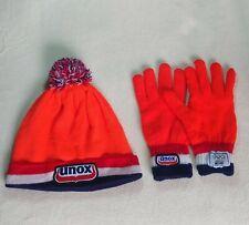 Unox Netherlands Winter Orange Beanie Hat Gloves H3H3 Teddy Fresh New Year Dive