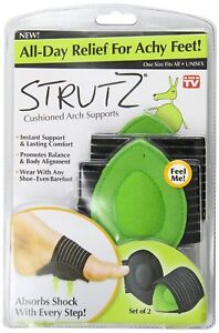 Strutz Cushioned Arch Support All-Day Relief Achy Sore Feet Flat Feet Set of 2
