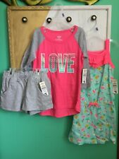 NWT Lot Of 2 Little Girl Clothes Outfits Top Shorts and Romper Size S 6/6X