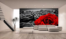 Romantic Red Rose Wall Mural Photo Wallpaper GIANT DECOR Paper Poster Free Paste