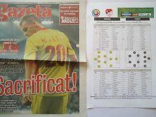 Gazeta & Team Sheet LS 10.9.2013 Romania Rumänien - Turkey Türkei