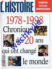 L'histoire n°220 - 04/1998 spécial 20 ans 1978-1998