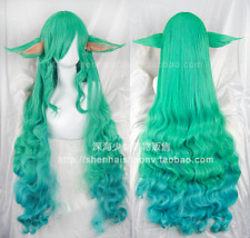 Game League of Legends LOL Soraka Star Guardian Cosplay Long Hair Wig + Ear