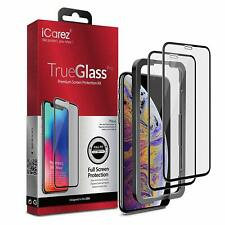 2x iCarez 9H Full Coverage Tempered Glass Screen Protector For iPhone XS MAX