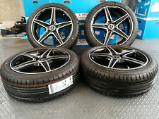 "Genuine 18"" alloy Wheels Mercedes C Class W205 C450 AMG C43 S205 C205 & Tyres"
