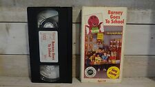 Vintage Barney Goes to School VHS Tape! 1990 Barney's Sing Along