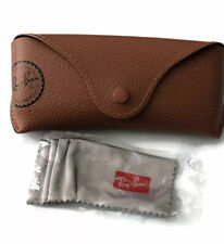 Ray Ban Eye Glasses/Sunglasses BROWN Cover /CASE /Pouch & Cleaning Cloth