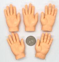 Finger Hands Finger Puppets Light Skin Tone Hand Puppets - 5 Piece Set