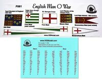 Revell English Man O'War 1:96 - Flags and Draft scales for model, FR
