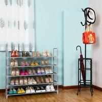 Shoe Rack Organizer Storage Pairs Shoes Shelves Space Saving 5-Tier 25 Pairs