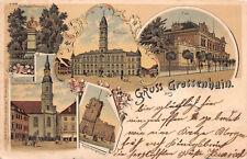 Gruss aus Grossenhain Post, Kirche Litho Postkarte 1899