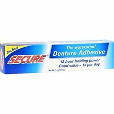 Waterproof DenTek Secure Denture Adhesive Bonding Cream 1.4oz 5 Pack by Bioforce