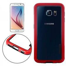 HIBRIDO Caja De Parachoques Carcasa Roja funda tapa para Samsung Galaxy S6