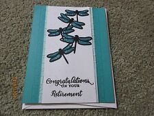 Retirement Handmade Greeting Card Dragonfly - using Stampin Up products