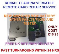 Renault Laguna Versatile 2 button Remote Card  Key Fob Repair Service Fault Fix
