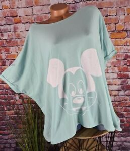 SHIRT T-Shirt Tunika Oversize Italy Mickey Mouse Vintage Print mint 40 42 44 46