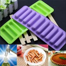 Silicone Mold Ice Tray Strip Cylinder Cube Stick Chocolate Cookie Bottle Biscuit