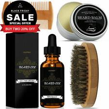 Men's Beard Care Grooming Kit-Moustache Growth Oil & Balm & Comb & Brush