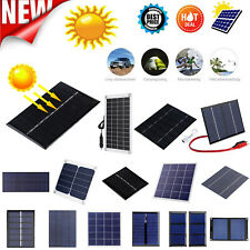 5W 5/12V Solar Panel DIY Polycrystalline Silicon Solar Battery Charger Power LOT