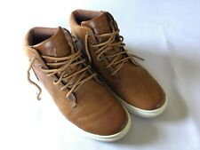 PERRY ELLIS PORTFOLIO SANTA CRUZE BROWN HIGH TOP SHOES MENS SIZE US 8 EUR 41 UK