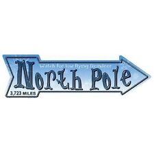 "Outdoor/Indoor Christmas North Pole Novelty Metal Arrow Sign 5"" x 17"""