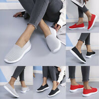 ❤️WOMENS MESH KNIT TRAINERS SNEAKERS LADIES CASUAL SLIP ON SPORT SOCK SHOES SIZE